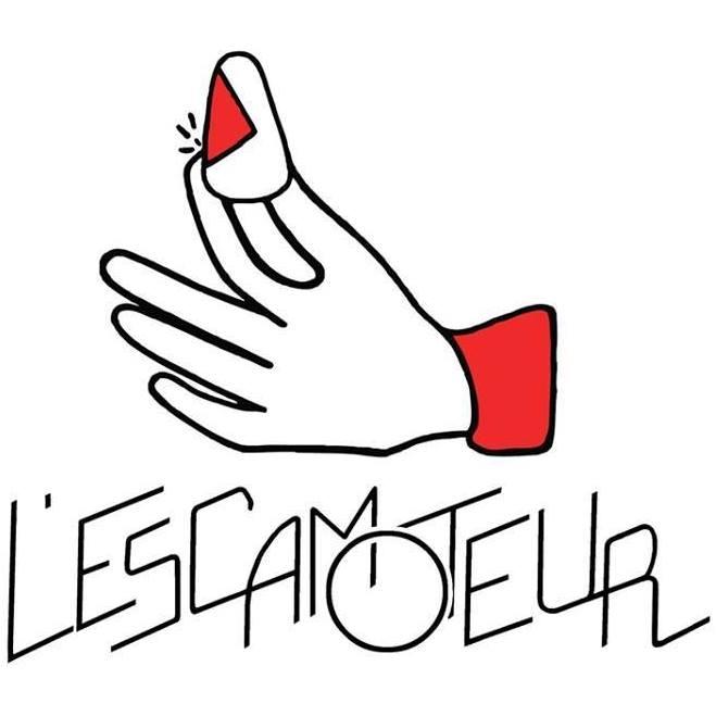 L'Escamoteur Escamoteur, un logo de Julie Savoye et une typographie de Joséphine Rébéna