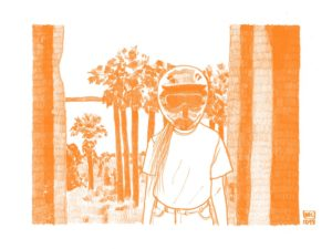 Dead Sea, un dessin de Marie Casays pour L'Escamoteur