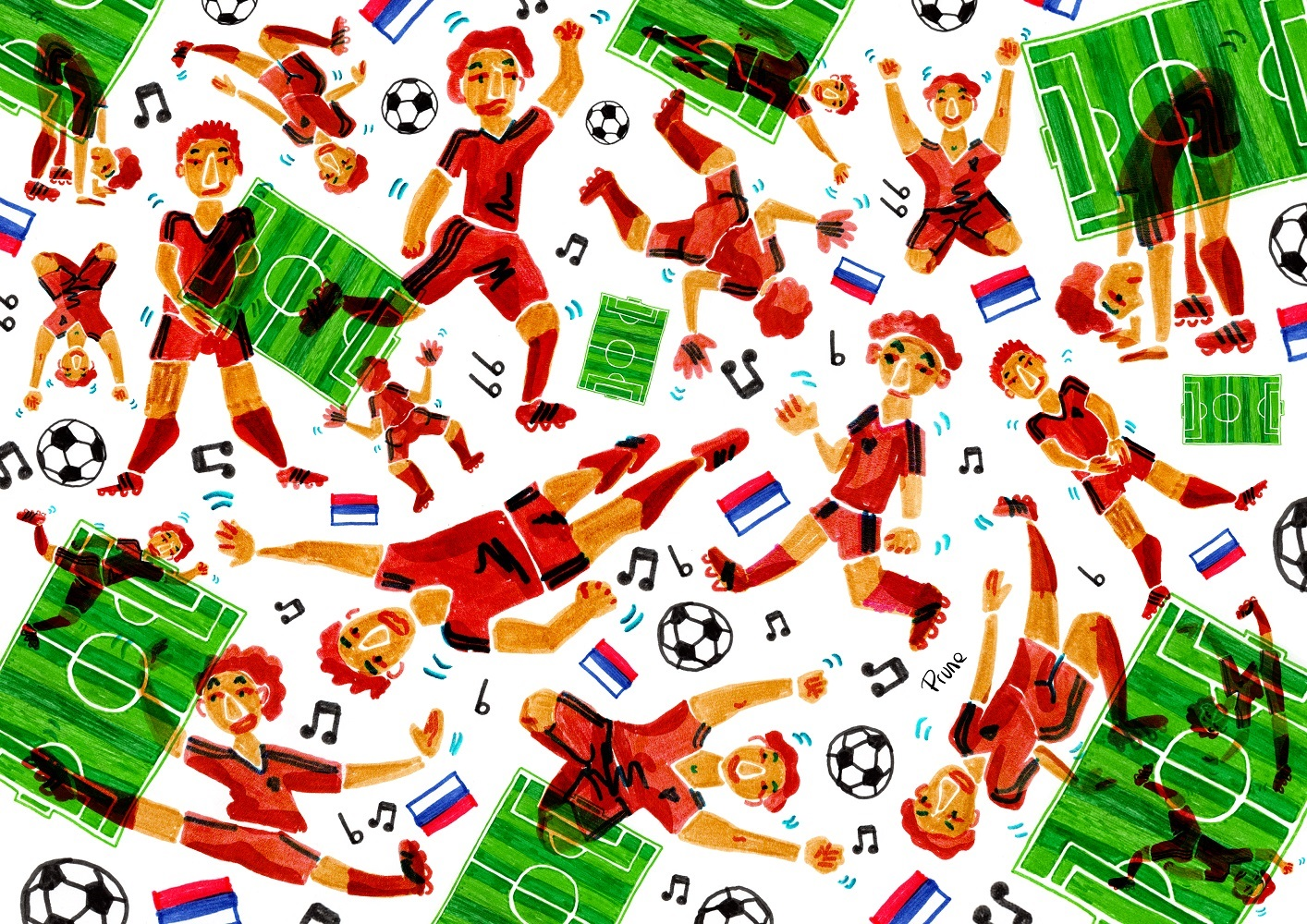 Prune pour L'Escamoteur, Coupe du monde de foot et rock russe