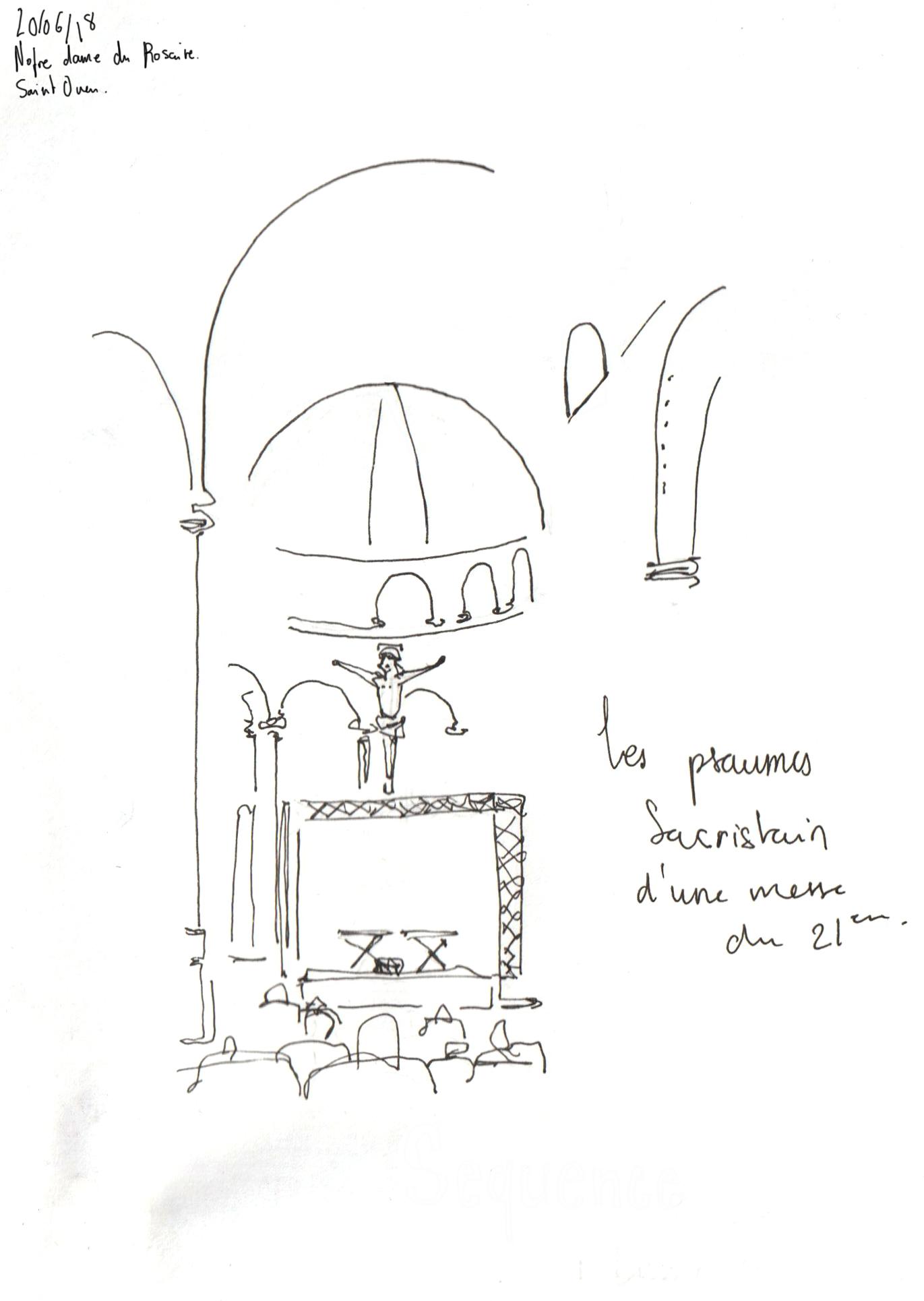 Séquences, un dessin de Luce Terrasson pour un article de L'Escamoteur
