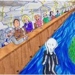 12 jours, un dessin de Matthieu Gobrecht pour une article de Louise Canguilhem sur L'Escamoteur