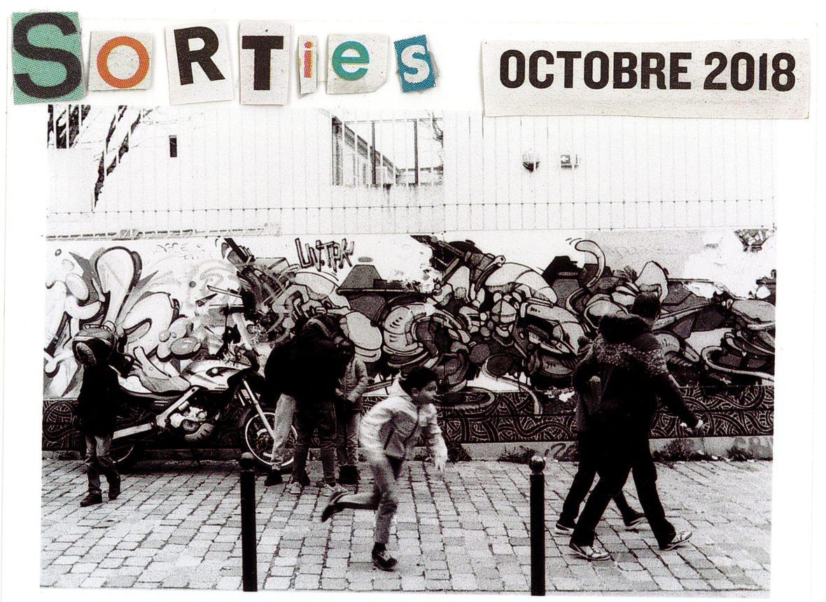 Octobre, les Sorties avec une photographie de Marion Bonneau pour L'Escamoteur Escamoteur