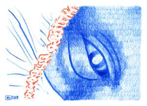 Amnesia, une illustration de Marie Casaÿs et un texte d'Antoine de Nardi pour L'Escamoteur