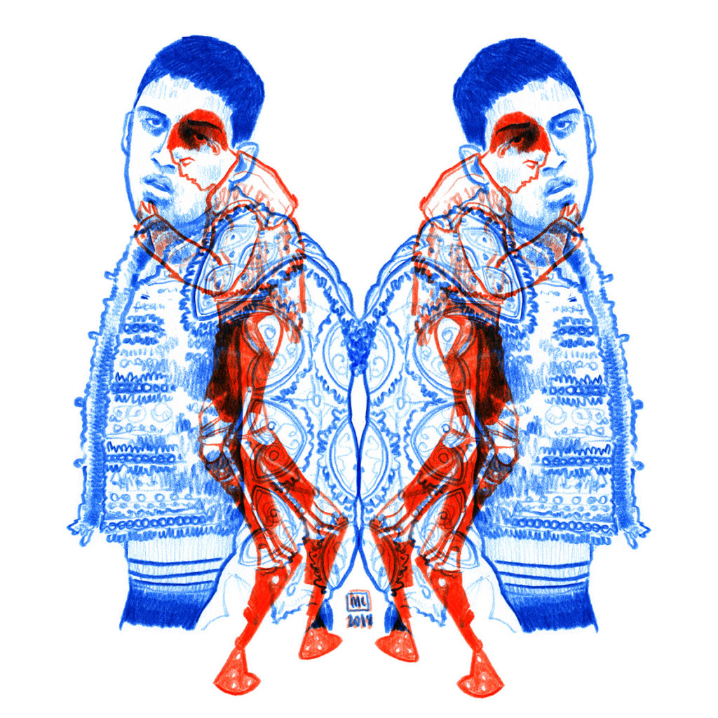ARCA, une illustration de Marie Casaÿs pour un article d'Antoine de Nardi sur L'Escamoteur