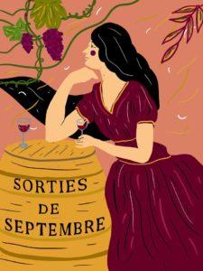 Sorties de Septembre - Une illustration de Mélisande Girard pour L'Escamoteur
