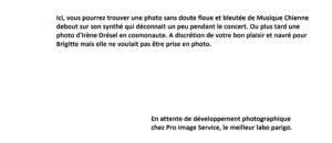 Brigitte Fontaine à oualpé pour L'Escamoteur