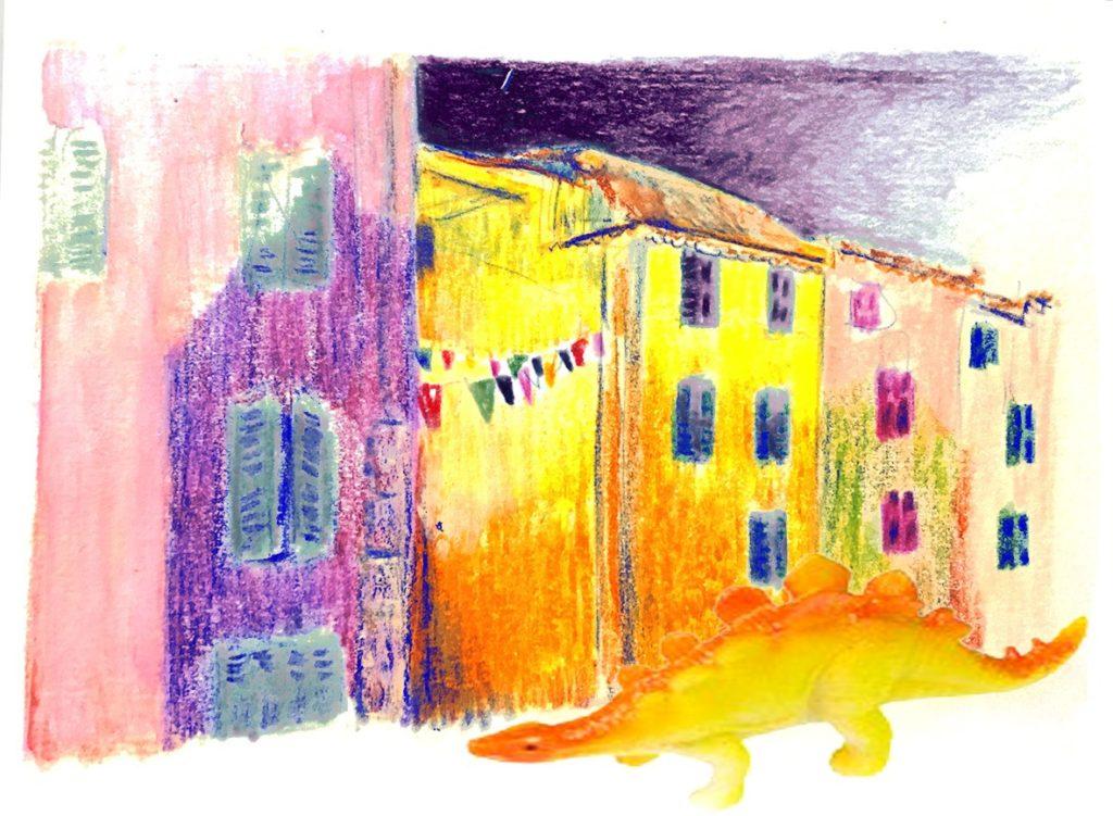 Kova dessine la danse au village