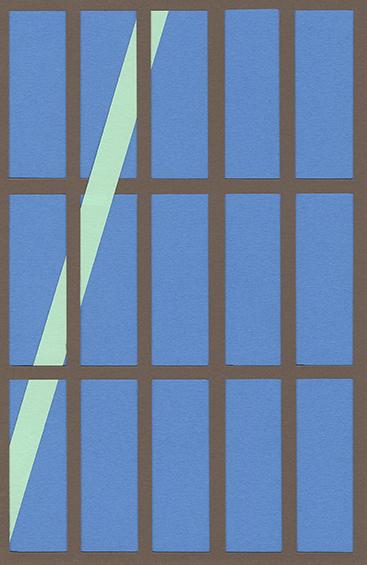 Audrey Perzo, 88, 2019, Papiers découpés, 18 x 13 cm