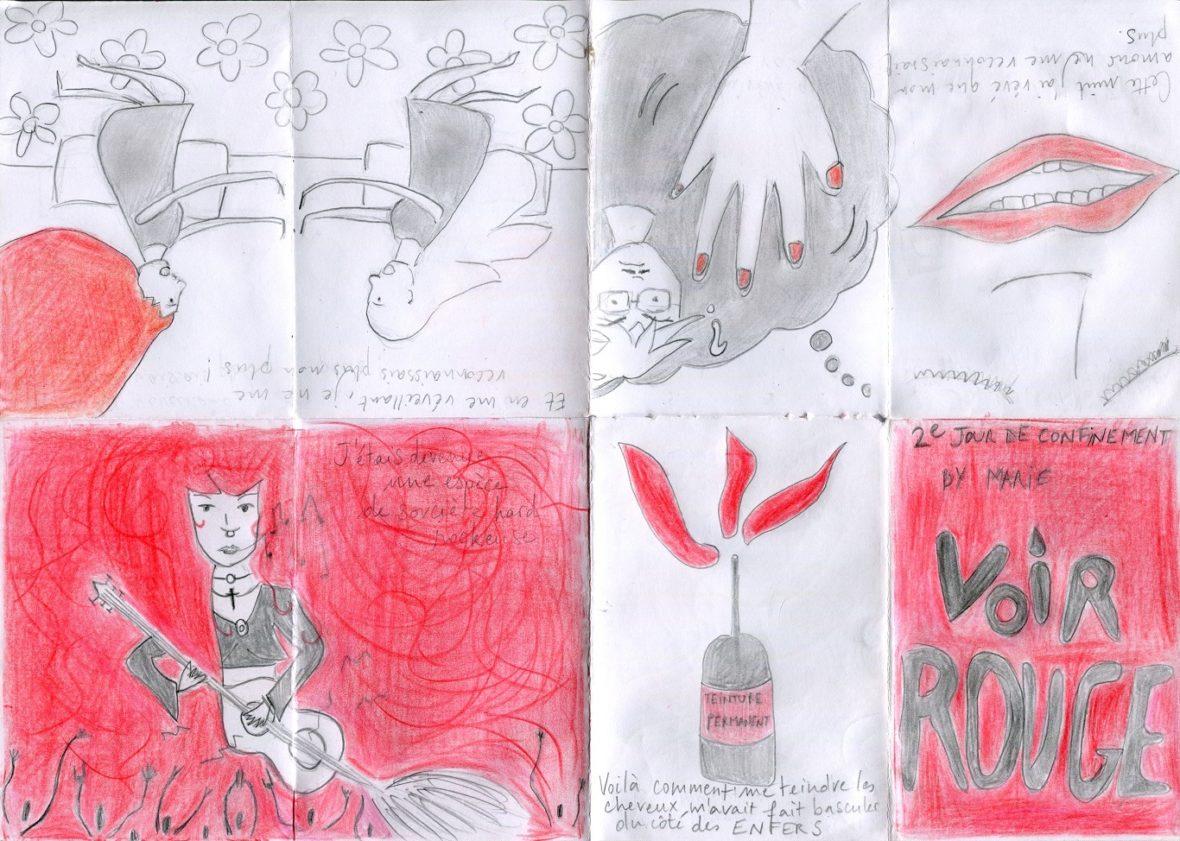 Escamoprint - Voir Rouge par Marie Lacroix