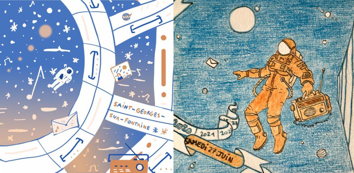 Chronique intergalactique par Mélisande Girard et Mathieu Gobrecht