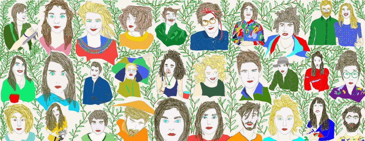 Les contributeurs de L'Escamoteur - Dessin de Julie Savoye